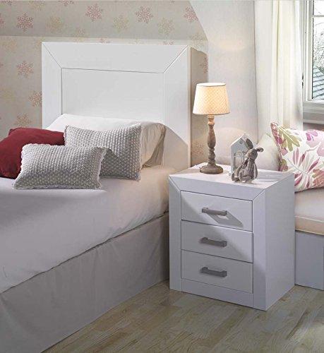 mesilla noche blanca dogar-kynus dormitorio